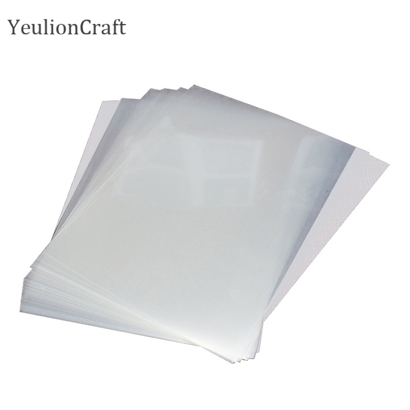 Chzimade 20Pcs A4 Screen Printing Transparent Inkjet Film Paper PCB Printer Stencil Inkjet Film Retain Ink Paper Crafts