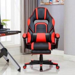 Игровой стул эргономичный исполнительный стул для геймеров офисный стул со складной подставкой для ног Удобная поясничная подушка для раб...