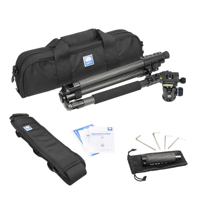 ET1204 + K10X Sirui Штатив Профессиональный Pro Штатив из углеродного волокна для SLR штатив для камеры Выдвижной 3 ножки штатив для камеры DHL