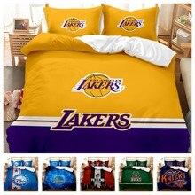 Venda quente conjunto de cama 3d digital basketball club impressão 2/3 pçs duvet cover conjunto único duplo gêmeo completa rainha rei quarto decoração