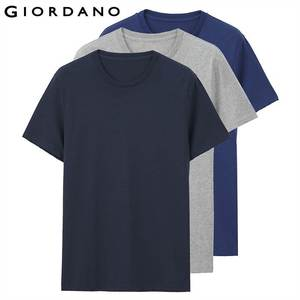 Image 2 - Giordano mężczyźni T koszula bawełniana z krótkim rękawem 3 pack Tshirt jednolita koszulka letnia oddychająca męska bluzka odzież Camiseta Masculina 01245504