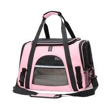 Bolsas transportadoras para gatos, mochila de transporte con cierre de seguridad, portátil y transpirable, plegable, para mascotas, perros y gatos