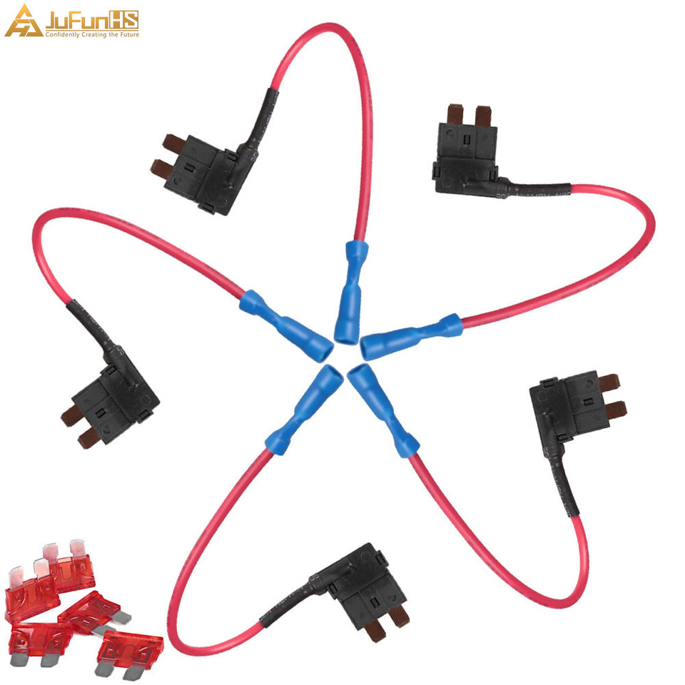 Splash proof In Line Fuse Holder Auto 7.5A 17AWG Standard Blade Fuse Holders