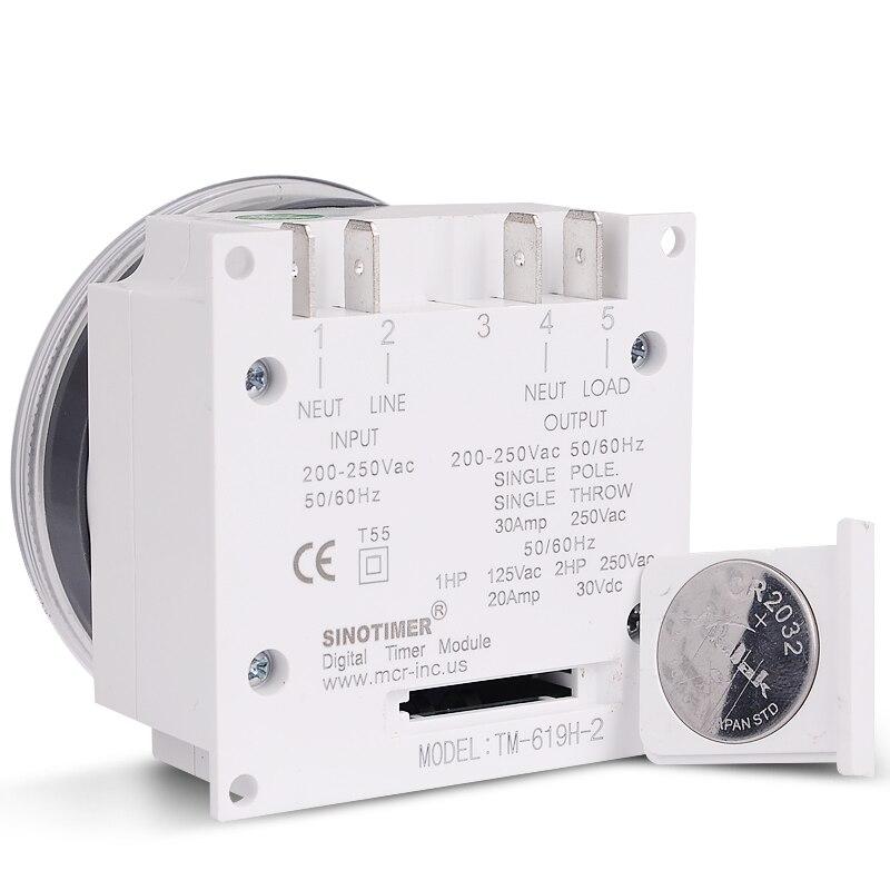 1pc Affichage LCD Hebdomadaire Programmable Relais /Électronique Relais Interrupteur 16on & 16off Minuterie 110V MAGT Minuterie num/érique