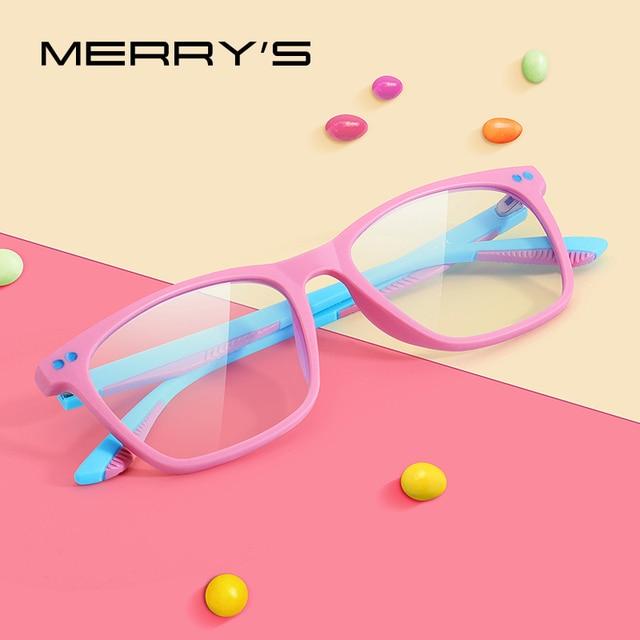 MERRYS Gafas de bloqueo para niños y niñas, diseño antiluz azul, gafas para juegos de ordenador, gafas de rayos azules S7103