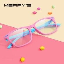 MERRYS עיצוב אנטי כחול אור חסימת משקפיים לילדים ילדים ילד ילדה משחקי מחשב משקפיים כחול Ray משקפיים S7103
