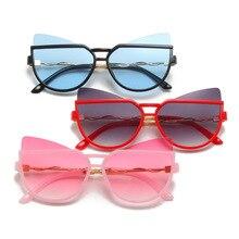 Kids Sunglasses UV400 Girls Children Gradient for Boy Cat-Eye Personality Baby Cartoon
