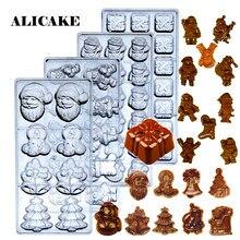 Moule à chocolat 3D en Polycarbonate, ustensiles de cuisson, boulangerie, outils de pâtisserie, en plastique pour plateau à chocolat