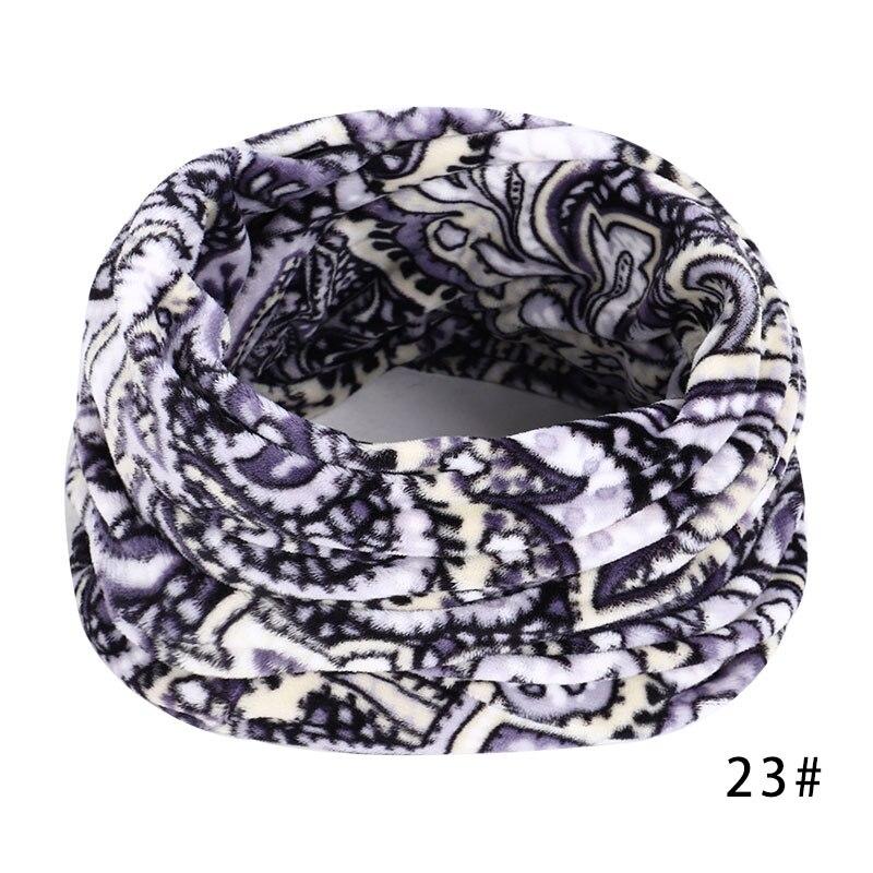 Новинка, осенне-зимний женский шарф с принтом для женщин, модный бархатный тканевый шарф, мягкий удобный женский винтажный шарф - Цвет: 23