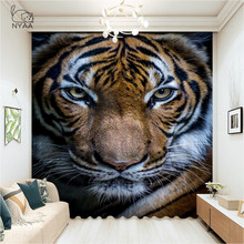 White Tiger Animal PosterCurtains Living Room Luxury Bedroom Decoration Kitchen Curtains Scandinavian Style  Micro Shading