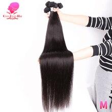 Kraliçe güzellik 1 3 4 adet Lot Remy brezilyalı düz saç demetleri uzun insan saçı örgü 26 28 30 32 34 36 38 40 inç ücretsiz kargo