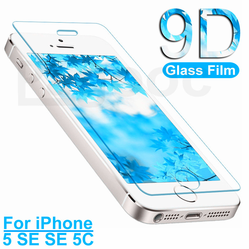 9D Tempered Glass On The For Apple IPhone 5 5S 5C SE Phone Screen Protector Safety Glass For IPhone 5S SE Protection Film
