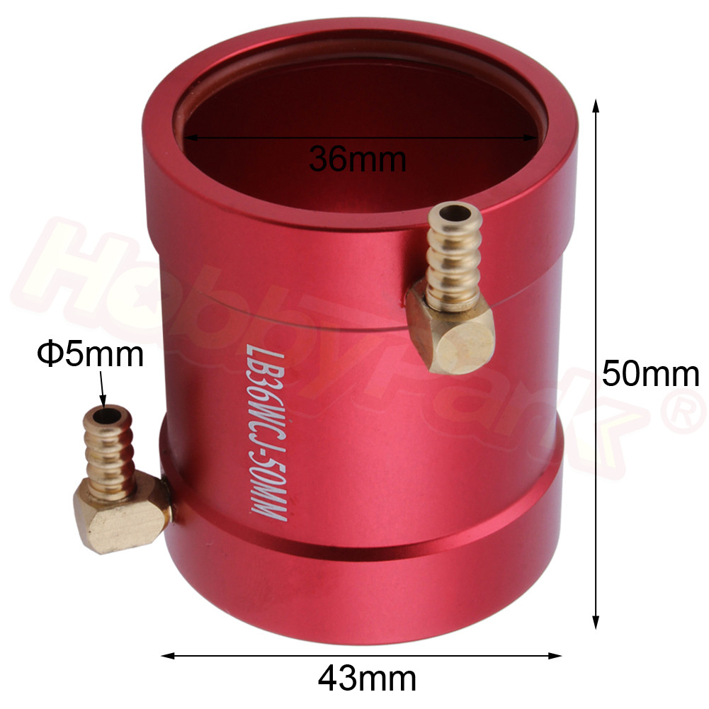 Aluminum 36mm Motor Water Cooling Jacket Heatsink For 3650 Size Motors RC Boat Parts RS540 Brushless