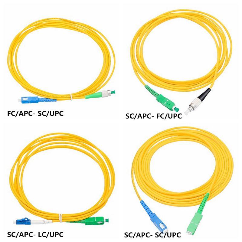SC/APC To SC FC/LC/ST UPC Single Mode Single Core 3 M 5 M 10 M 20m 30m Fiber Jumper Tail