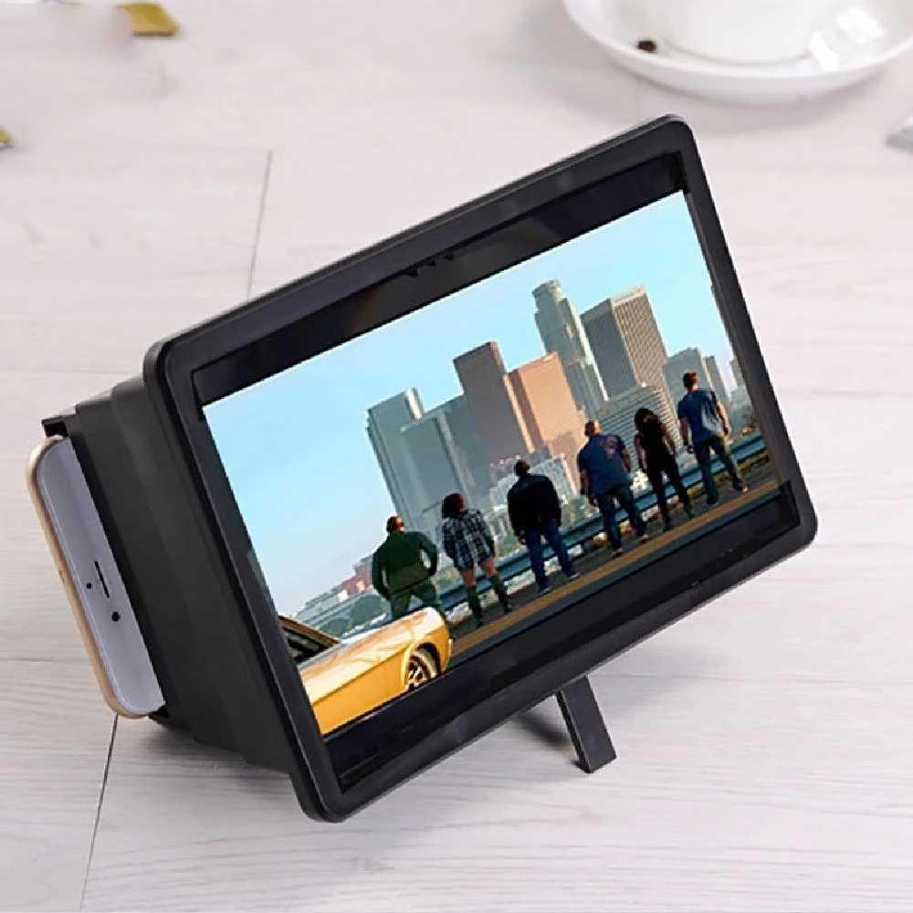 Universale Del Telefono Mobile Dello Schermo di Lente di Ingrandimento Potabile 3D Schermo Del Telefono Staffa Ingrandire Stand Occhi di Protezione Display Amplificatore Expander