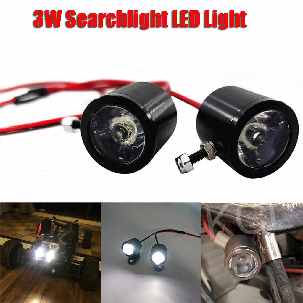 3W Searchlight LED Light For 1/10 RC Crawler Car Trax TRX4 SCX10 D90 RC Short-Course Truck Monster Truck Parts Accessories