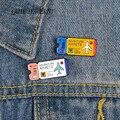 QIHE ювелирные изделия Приключения авиа билеты шпильки толстовки для влюбленных пар эмаль на булавке милый броши значки джинсовая одежда бул...