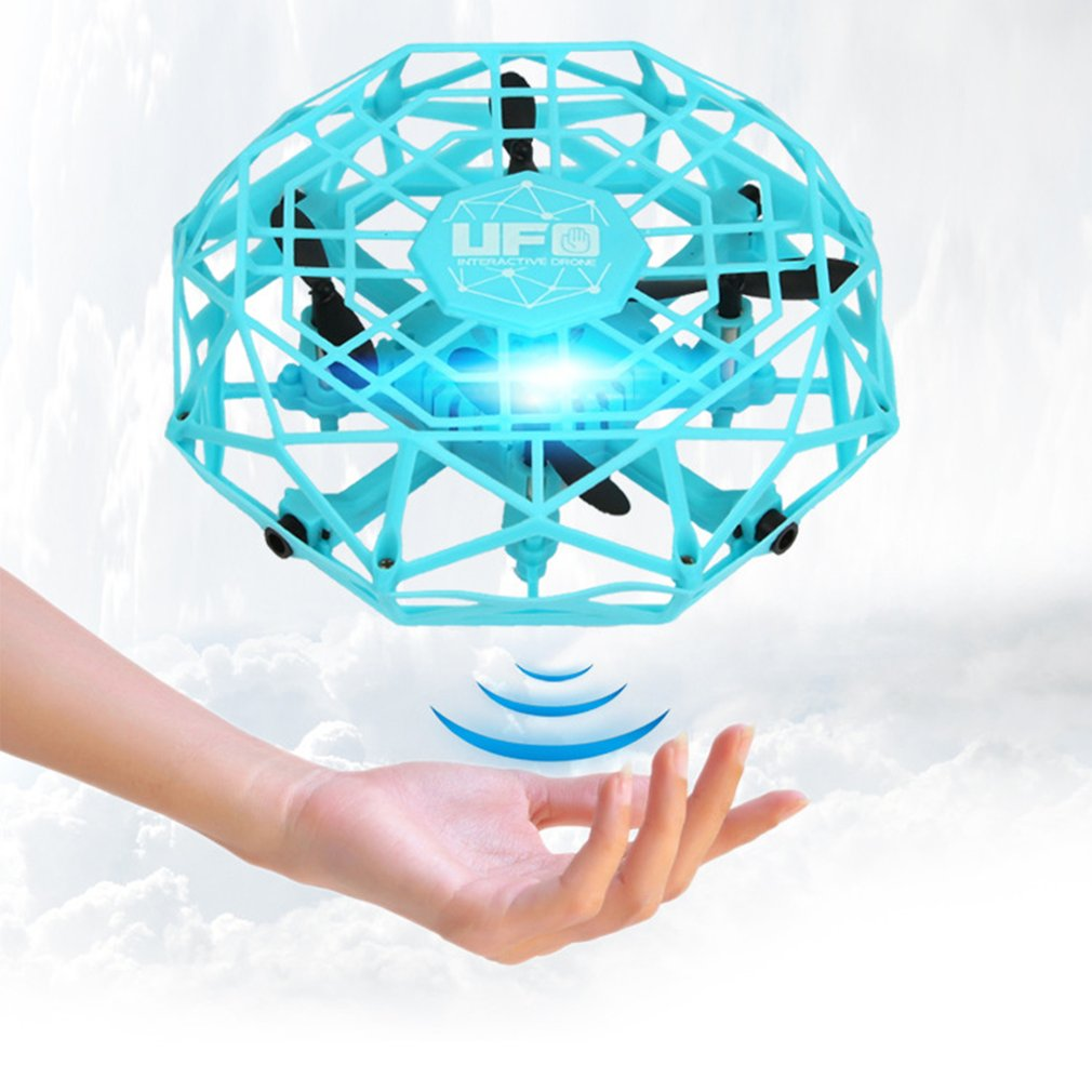 2019 NEW TL123 UFO Mini Drone Helicopter RC Quadcopter Sensing and Lights Indoor Toy Electronic Helicopter Toy Best Gift