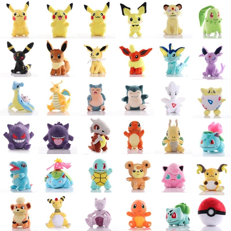 41 Styles TAKARA TOMY Pokemon Pikachu Dragonite Snorlax Lapras Gengar Umbreon Plush Toys Soft Stuffed Toy for Children Kids Gift 1