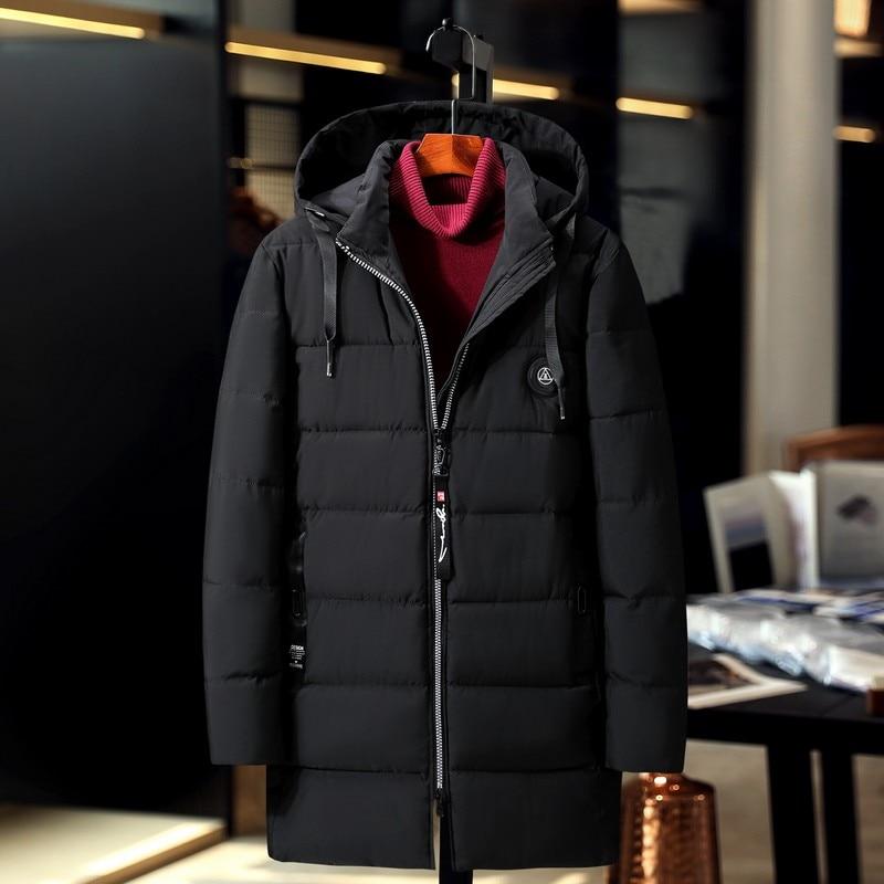 Распродажа 2019, ветронепроницаемая Хлопковая мужская длинная куртка, большой размер, зимнее пальто, толстая свободная парка, новая Толстая теплая ветровка - 5
