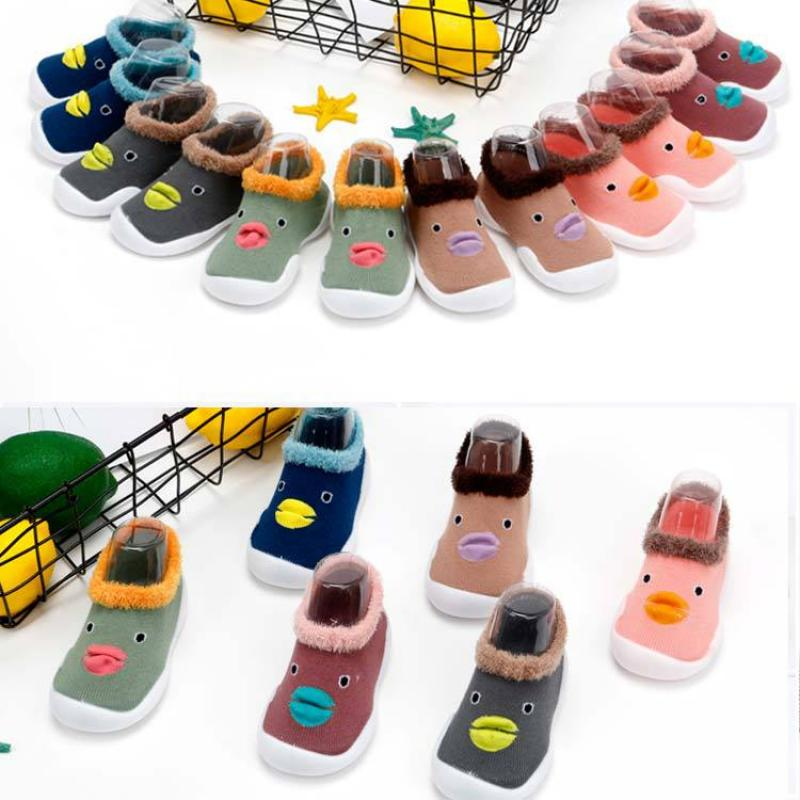 Baby Cute Cartoon Duck Shoes Boys And Girls Non-slip Shope Baby Rubber Sole Soft Shoes Baby Spring Autumn Todder Shoes