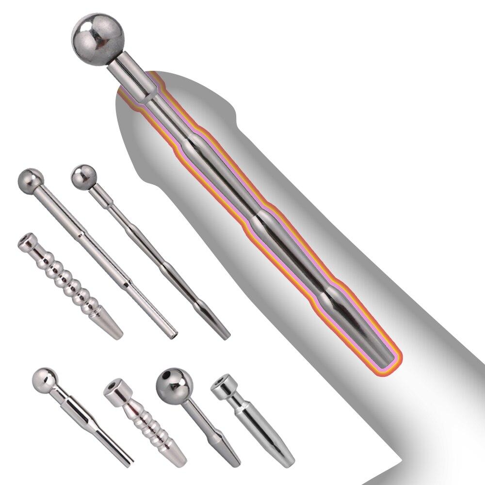 Metal Urethral Catheter Penis Plug Urethral Dilator Penis Plug Urethral Sounding Toy Adult Products For Men Erotic Sex Shops