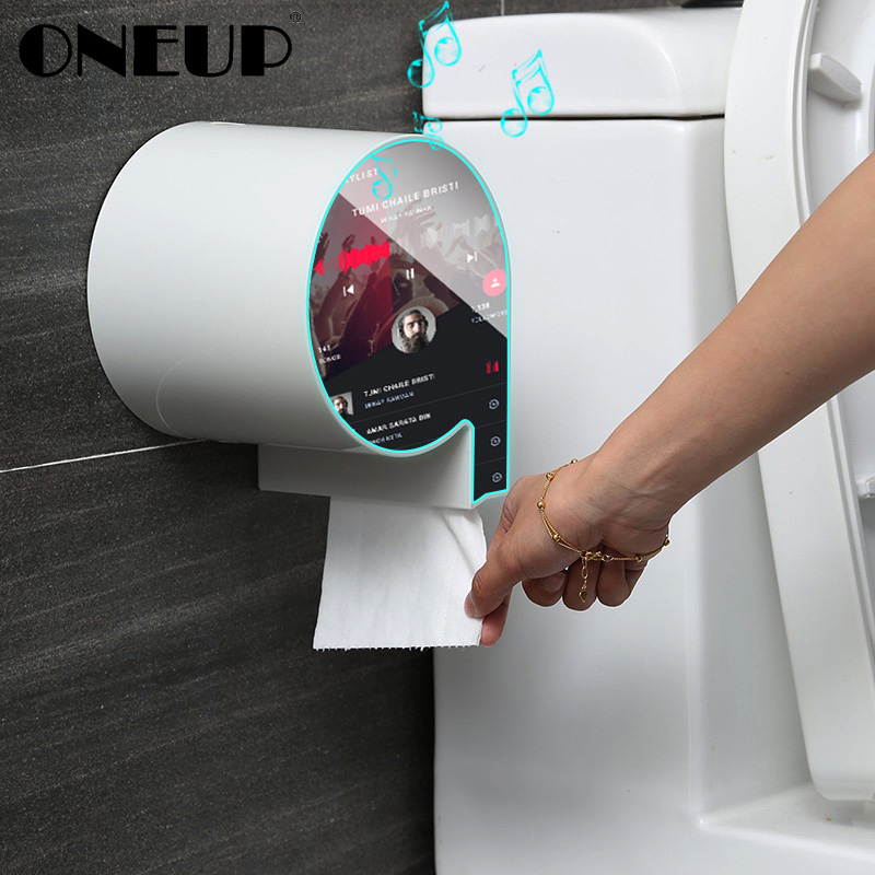 ONEUP Waterproof Toilet Paper Holder Hygienic Paper Dispenser For Bathroom Wall-mount Storage Box Portable Bathroom Accessories