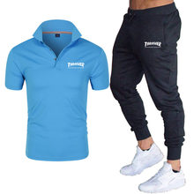 2021 Men's Short Sleeve POLO Shirt + Casual Pants Suit Polo Suit New Fashion Casual Sports Suit Short Sleeve T-Shirt + Pants