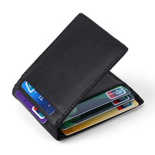 European style short Card case Business Slim Wallet for cards Cow Leather Bank card holder ladies Cowhide New Men money clip