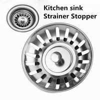1pc Stainless Steel Kitchen sink Strainer Stopper Waste Plug Sink Filter filtre lavabo bathroom hair catcher Kitchen Accessories
