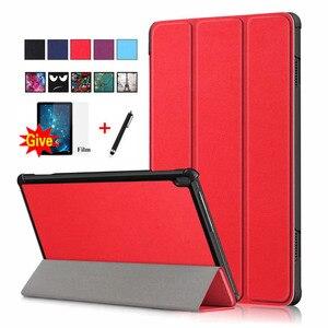 "Case For Lenovo Tab M10 TB-X505F TB-X605L TB-X605 10.1"" Smart Cover Funda Ultra Slim Magnetic Folding Skin Stand Shell +Film+Pen(China)"
