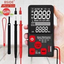 BSIDE ADMS7 Tester napięcia 3.5 duży wyświetlacz LCD cyfrowy inteligentny multimetr potrójny TRMS 6000 zlicza DMM z analogowym bargrafem