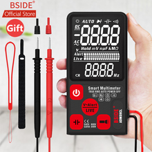 купить BSIDE ADMS9CL Voltage Tester 3.5'' Large LCD Digital Smart Multimeter Triple Display TRMS 6000 Counts DMM with Analog Bargraph по цене 452.09 рублей