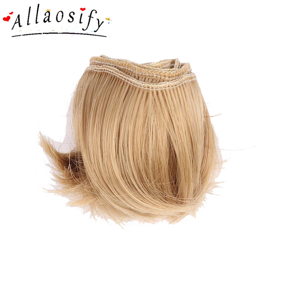 Allaosify 5cm*100cm High Temperature Heat Resistant Doll Hair For 1/3 1/4 1/6 BJD Diy Curly Doll Wigs Free Shipping