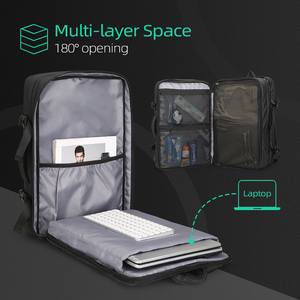 Image 2 - Mark Ryden Men Backpack Fit 17 inch Laptop USB Recharging Multi layer Space Travel Male Bag Anti thief Mochila
