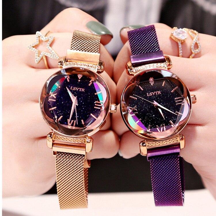Luxury Romantic Women Watches Starry Sky Magnetic Female Wristwatch Waterproof Rhinestones Clock Relogio Feminino Montre Femme