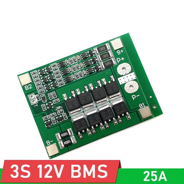 3S 15A 25A mit balance 12V 18650 Li-Ion BMS PCM lithium-batterie schutz bord für 11,1 V 12,6 V li-ion lipo batterie zelle pack