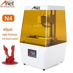 Anet N4 3D принтер 45 мкм Высокая точность DLP LCD SLA 3D принтер VU Смола набор 3D принтер высокая точность печати размер 120*65*138 мм
