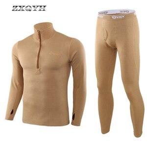 Image 3 - ZXQYH ความร้อนฤดูหนาวผู้ชายชุดทหารยุทธวิธี Uniform กีฬากลางแจ้งเสื้อผ้าที่อบอุ่นเสื้อ + กางเกงชุดชุด