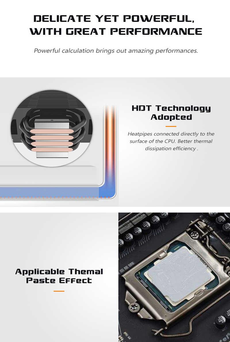 Dark flash AIGO L4 4 أنابيب الحرارة وحدة المعالجة المركزية برودة ل AMD إنتل 775 1150 1151 1155 1156 وحدة المعالجة المركزية المبرد 120 مللي متر 4pin تبريد وحدة المعالجة المركزية مروحة PC هادئة