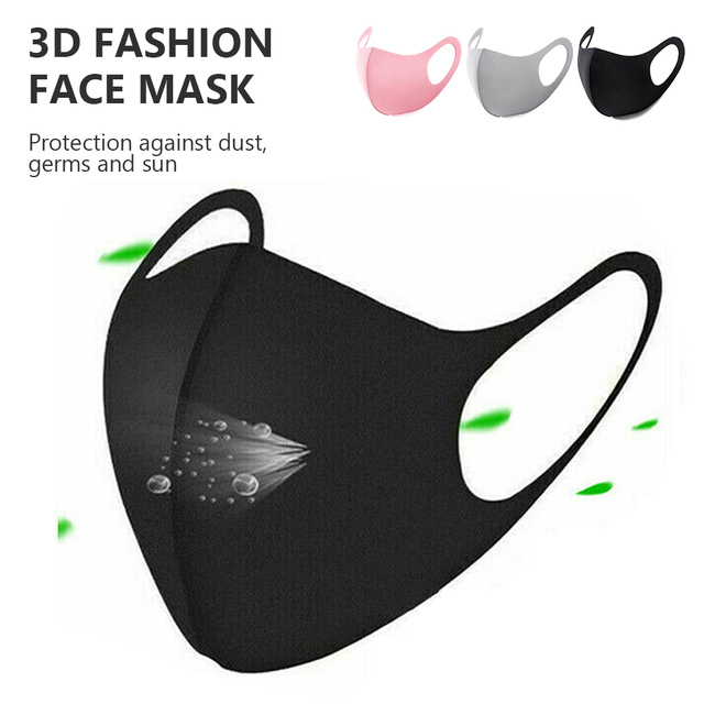 New Kpop Cotton Black Gray Pink Valve Mask Mouth Face Masks Anti PM2.5 Dust Maske Washable Reusable Mouth Cover PM2.5 Filter 1