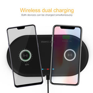 Charging-Station-Dock Car-Usb-Charger Wireless Desktop Dual-Qi iPhone X Samsung S10 8-Plus