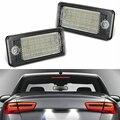 12V светодиодный Canbus автомобильный номерной знак светильник номерной знак лампа для Audi A3 8P S3 A4 B6 B7 S4 RS4 A5 8F A6 4F A8 Q7 4L и формирующая листы для кров...