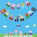 2021 со Свинкой Пеппой; Вечерние, украшенные забавной аппликацией с темой Peppa Джордж шар вставка для торта с днем рождения баннер для День рожд...