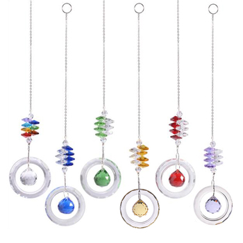 Kryształy DIY wielokolorowe koraliki czysty żyrandol kryształy wisiorki wiszący Ornament Suncatcher pryzmaty wystrój ogrodu akcesoria tanie i dobre opinie HELTC CN (pochodzenie) Crystals Pendants