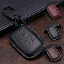 Full Cover Genuine Leather Car Key Case For Land Rover RANGE ROVER SPORT Freelander 2 DISCOVERY 4 Evoque For Jaguar XE XJ XJL XF car key cover key case bag for land rover range rover sport freelander 2 discovery 4 evoque for jaguar xe xj xjl xf key cover