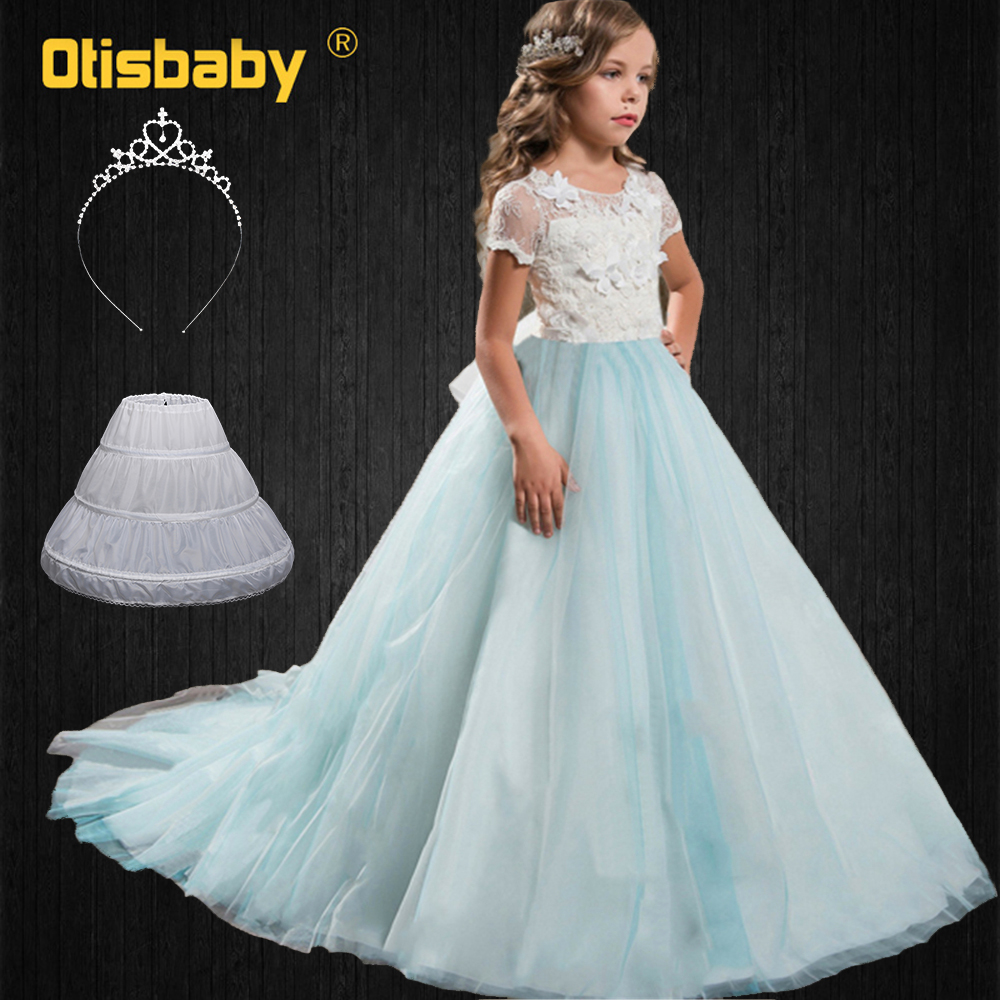 Butterfly Tulle Birthday Dresses for Girls 4 4 4 4 Years Girls Lace  Formal Prom Gowns Children Floor Length Pageant Costumes