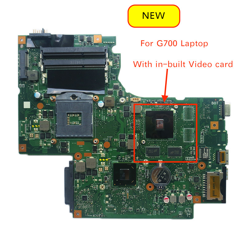 100% Tested New 11S102500433 BAMBI MAIN BOARD REV:2.1 For Lenovo G700 Laptop Motherboard With In-built GPU