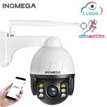 INQMEGA 1080P PTZ IP 카메라 자동 추적 야외 Onvif 방수 미니 스피드 돔 카메라 2MP IR 30M P2P CCTV 보안 카메라