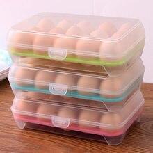 Qualidade cozinha pp caixa de armazenamento em casa recipiente de alimentos organizador geladeira armazenamento ovo ferramentas 15 ovos caixas de armazenamento cozinha ferramenta
